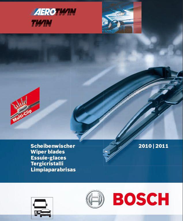 Каталог стеклоочистителей Bosch Aerotwin и Twin