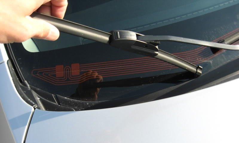 Обогрев зоны покоя щеток стеклоочистителя лобового стекла